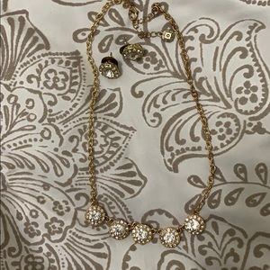 MONET Necklace & Stud Earrings Sparkly Set